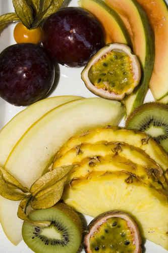 Vykort fruktfat